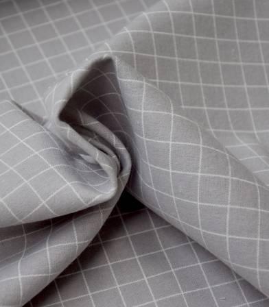 Tissu flanelle de coton - Grid gris