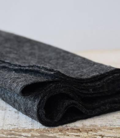 Tissu Jersey de laine - Charcoal