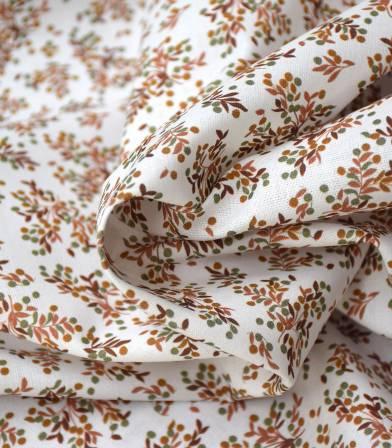 Tissu coton bio - Petit feuillage d'automne
