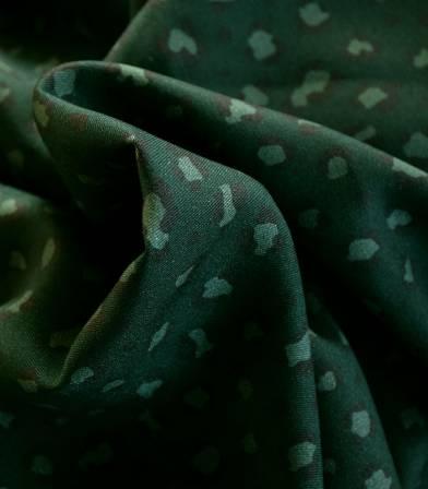 Tissu twill viscose - Mini Léo green