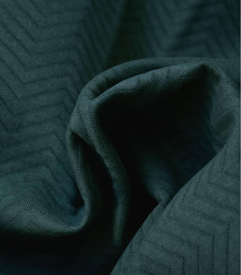 Tissu Jersey matelassé chevron - Green