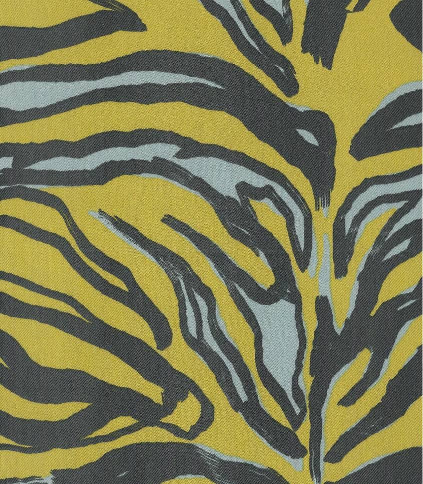 Tissu twill viscose Zebra - Anis