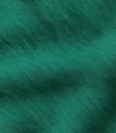 Crêpe viscose texturé - vert émeraude