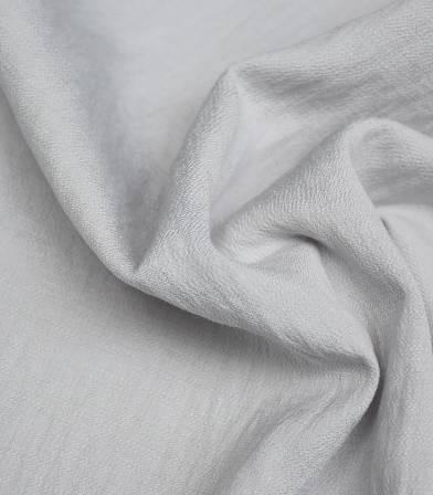 Crêpe viscose texturé - perle