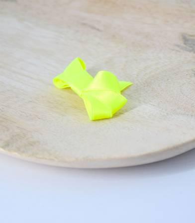 ruban satin jaune fluo 10mm