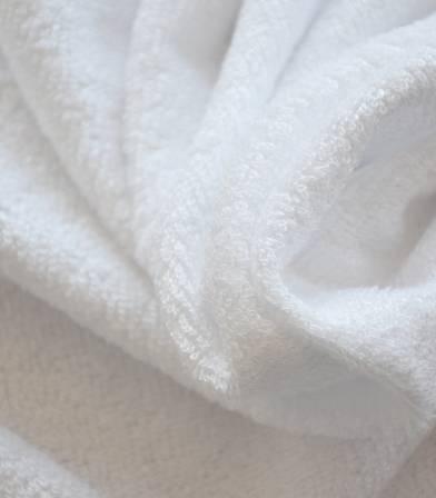 Tissu éponge bambou - Blanc