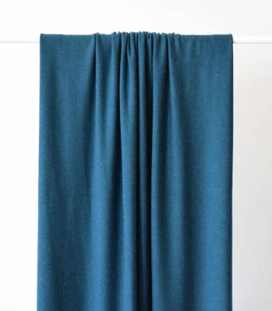 Tissu jersey viscose bleu de Prusse