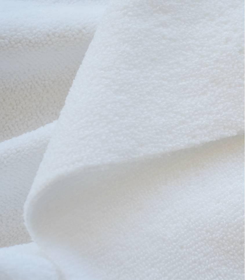 Tissu micro polaire - Blanc
