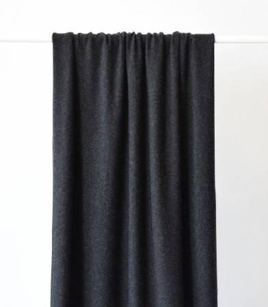 Tissu jersey viscose gris chiné foncé