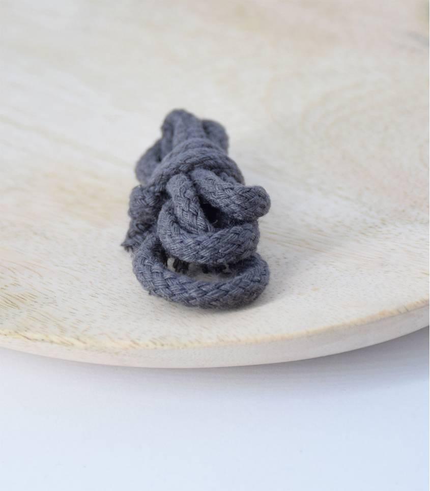 Cordelière coton grise