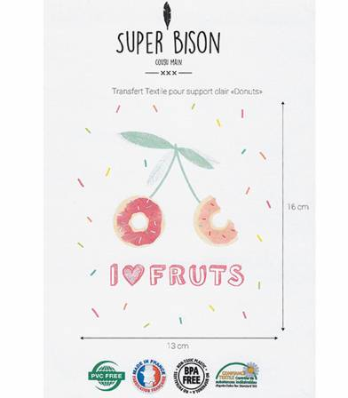 Transfert thermocollant Donuts - Super Bison