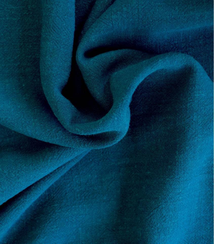 Tissu Lin / viscose - Bleu de Prusse