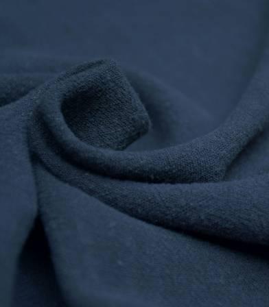 Tissu Lin / viscose - Bleu marine