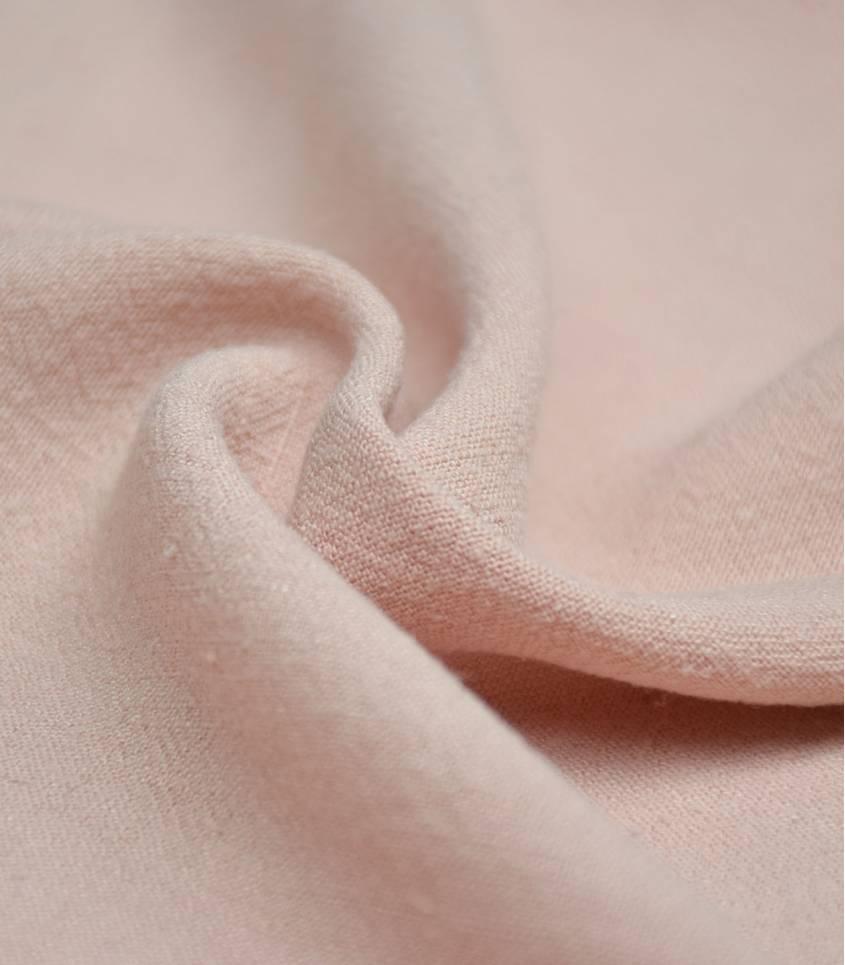 Tissu Lin / viscose - Nude
