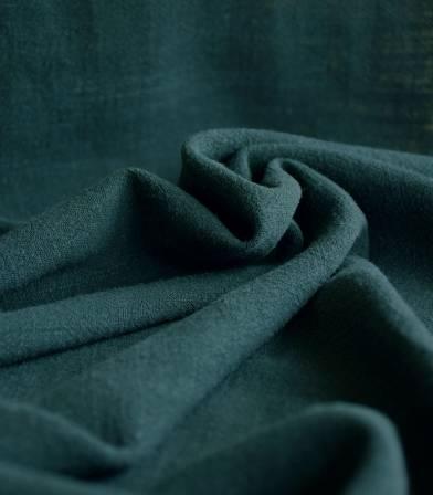 Tissu lin viscose - Vert forêt