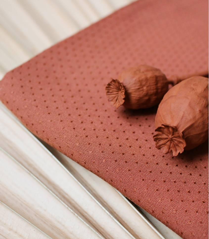 Tissu Dobby Chesnut