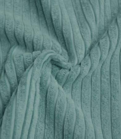 Tissu velours larges côtes - Bleu Trellis