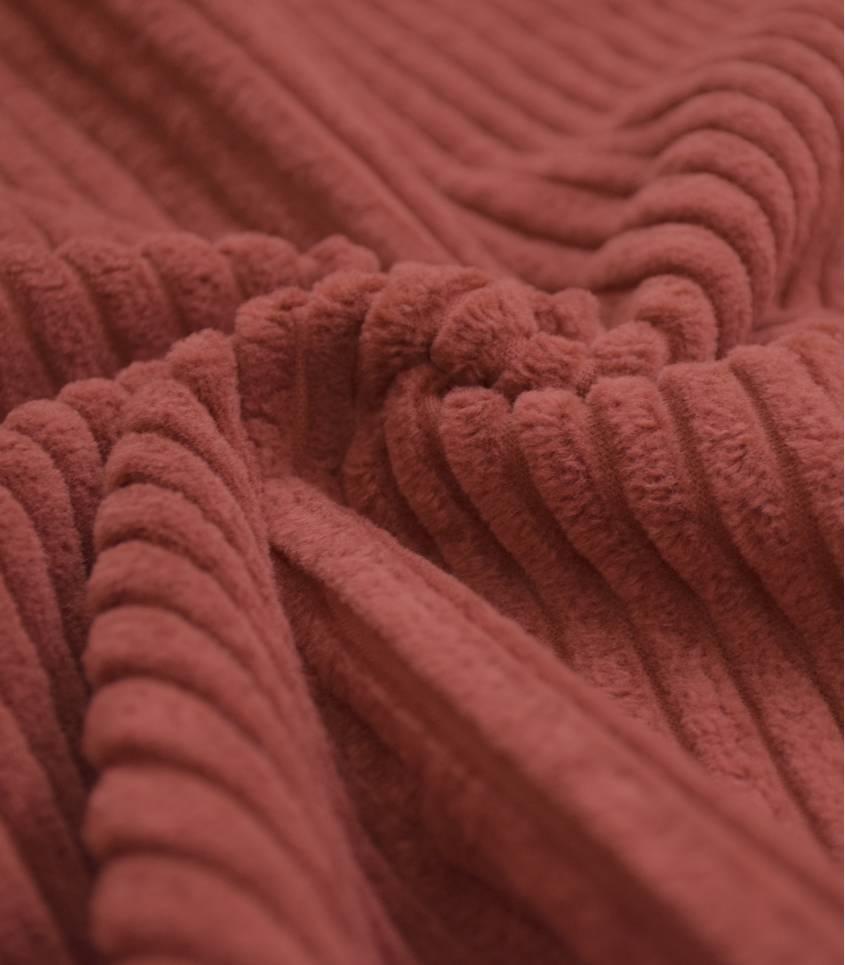 Tissu velours larges côtes - Brun Sable