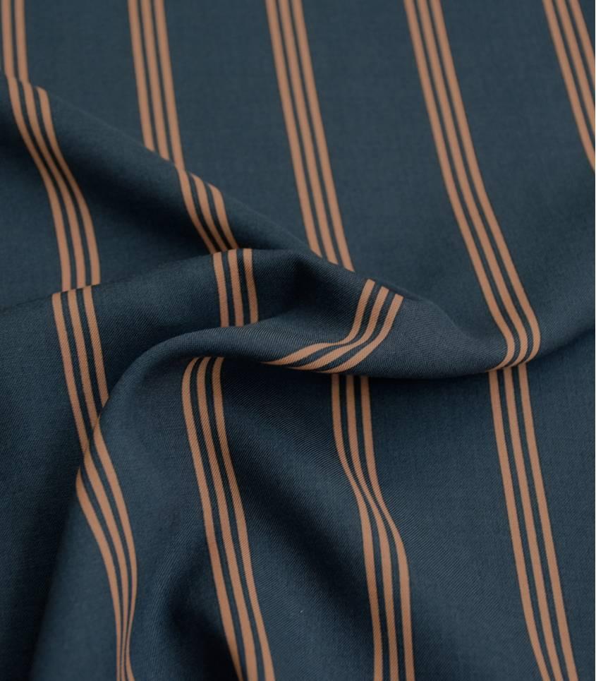 Tissu viscose Three lines - Peach