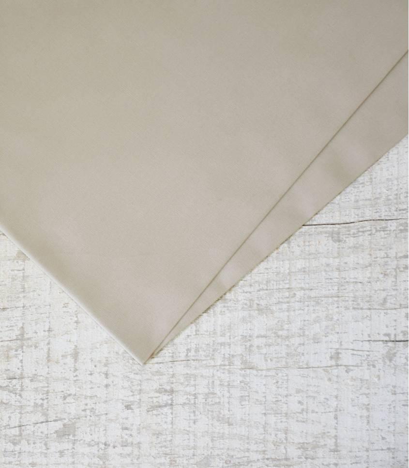 Tissu popeline de coton beige