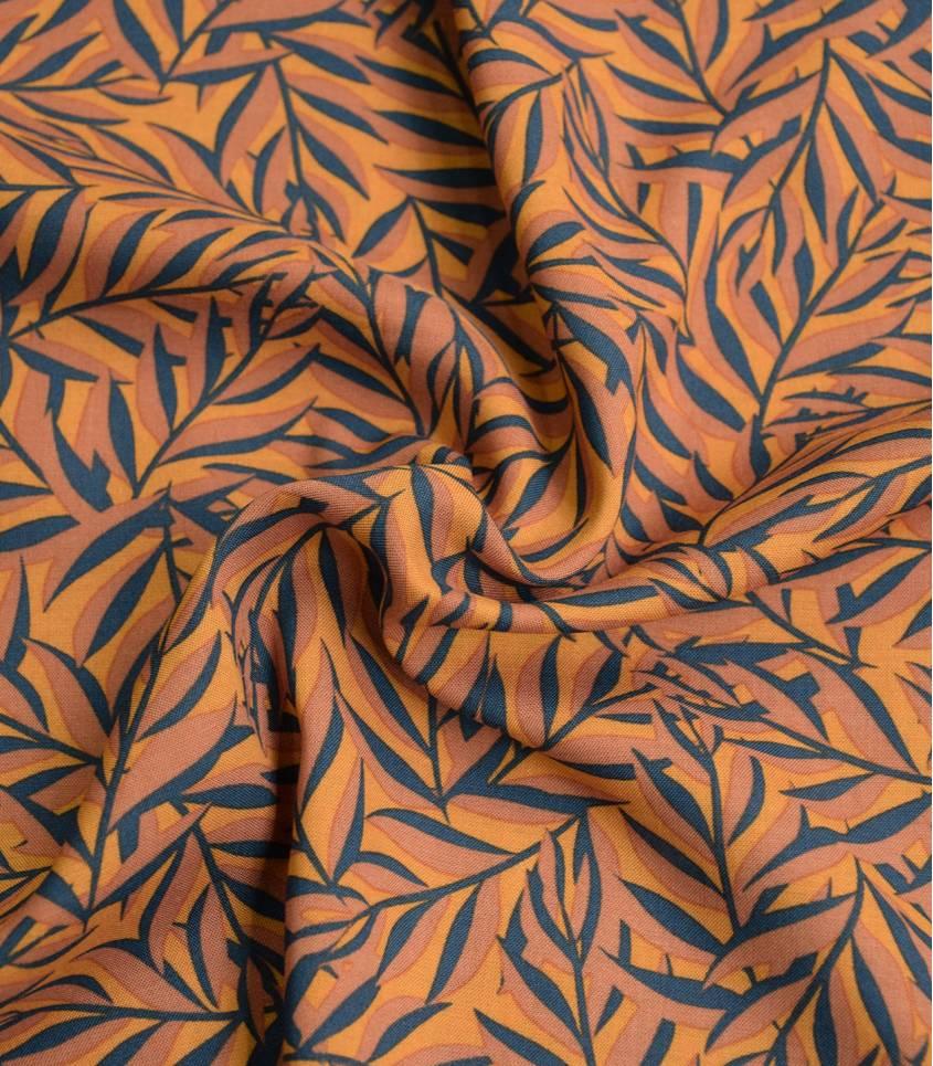 Tissu viscose - LEAVES