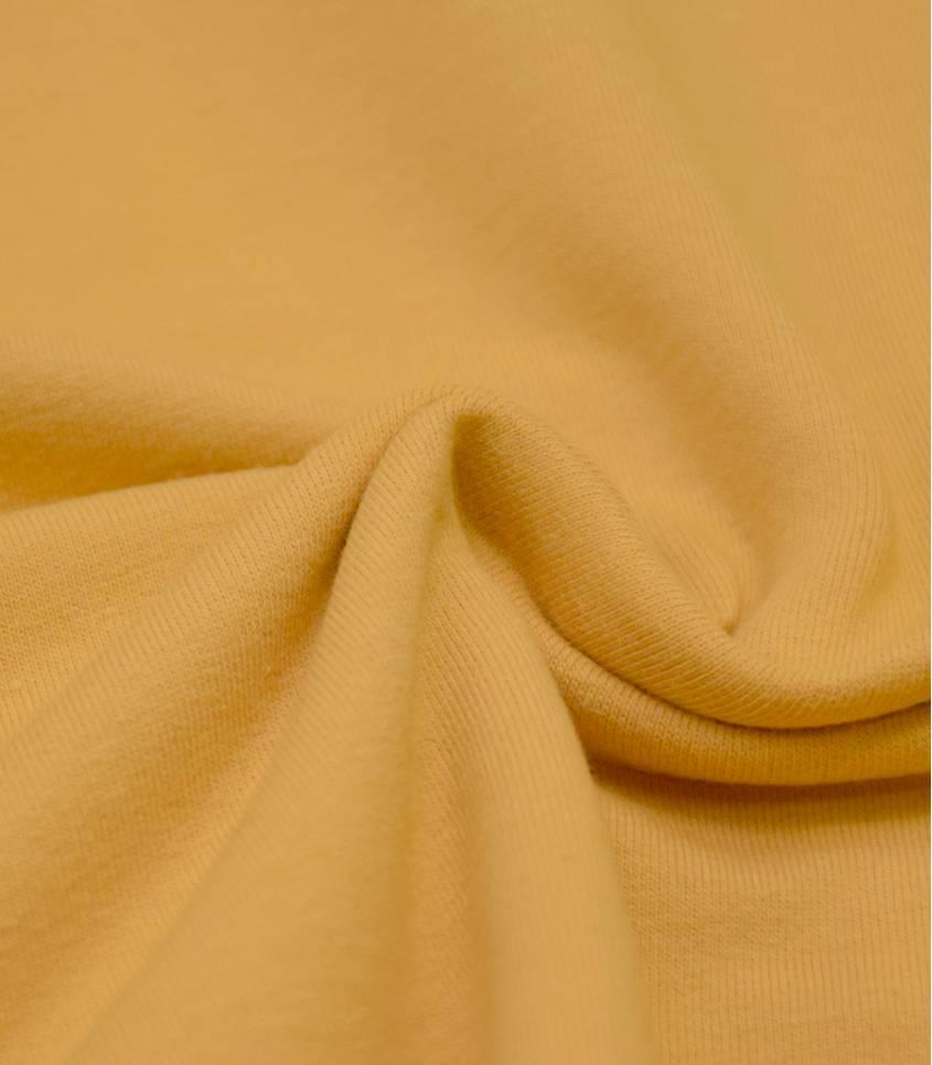 Tissu French terry - Jaune miel