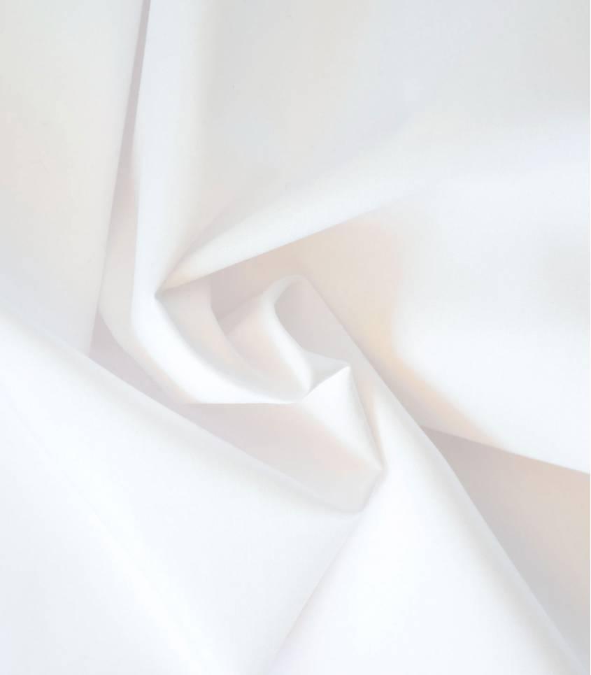Tissu popeline de coton blanche