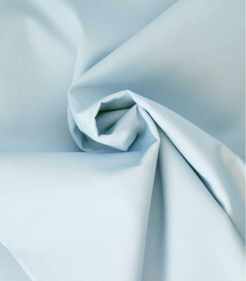 Tissu popeline de coton bleue ciel