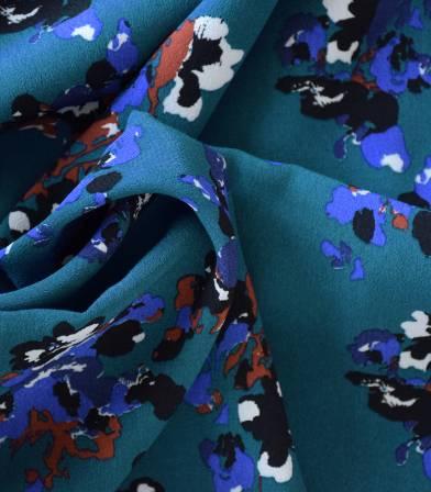 Tissu viscose Clematite blue