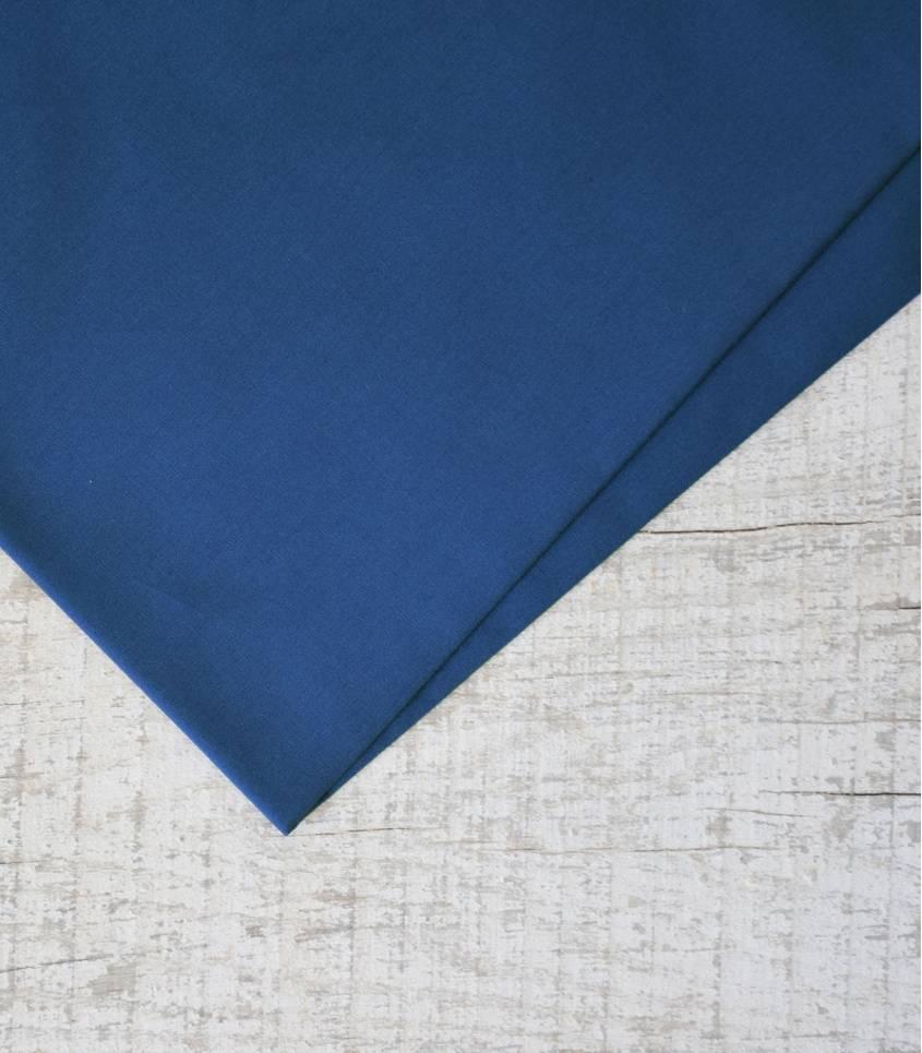 Tissu popeline de coton bleue