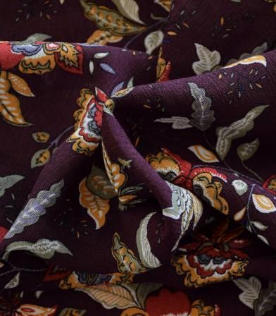 Tissu viscose Bohemian - purple