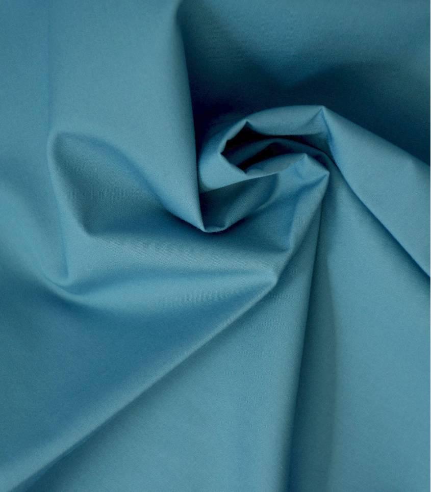 Tissu popeline de coton bleu jean