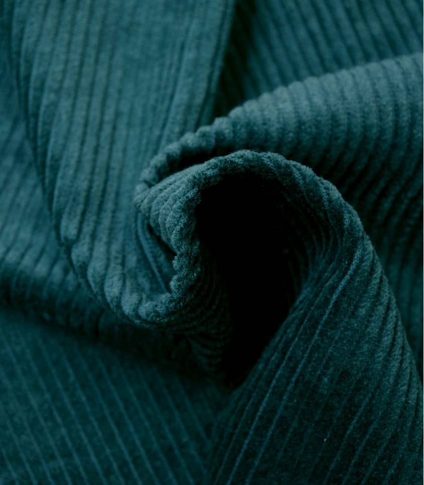 Tissu velours grosses côtes Teal