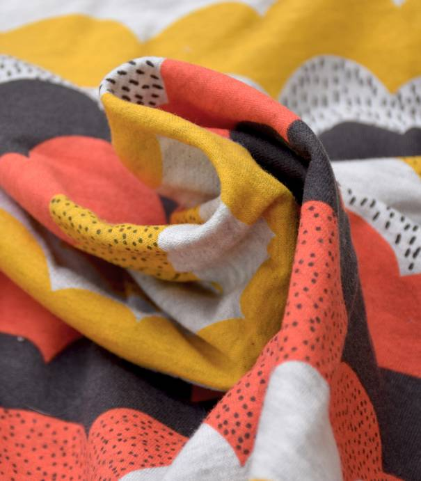 Tissu molleton imprimé - Cloudy