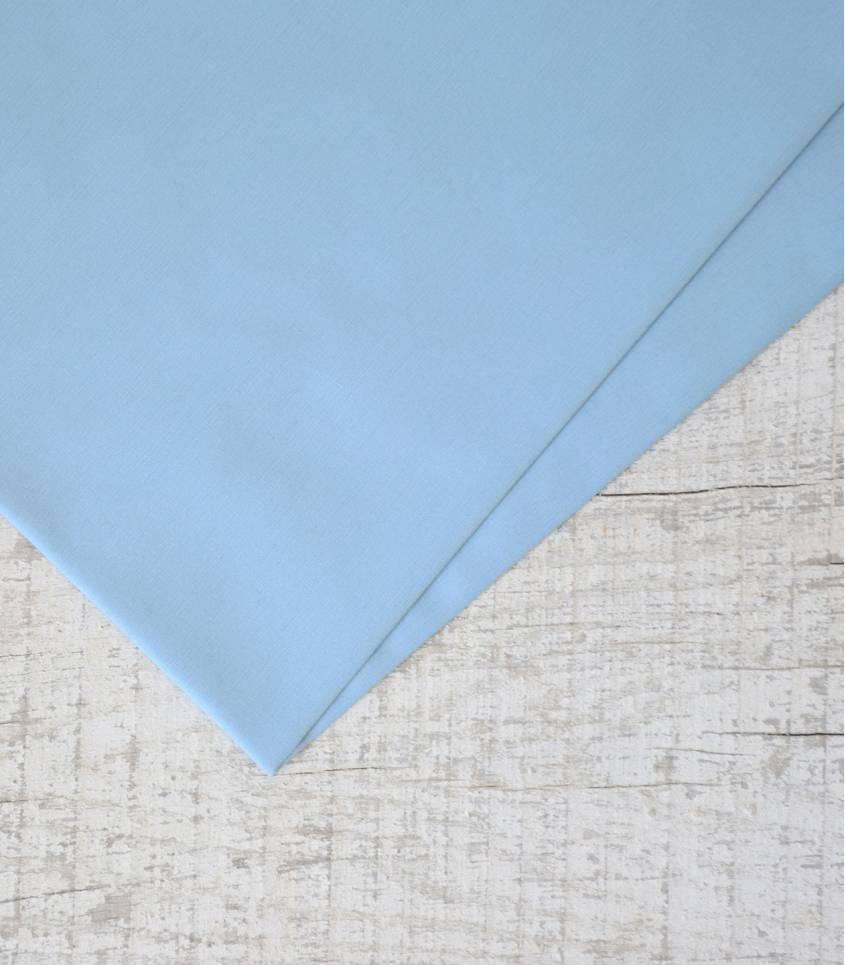 Tissu popeline de coton bleue lavande