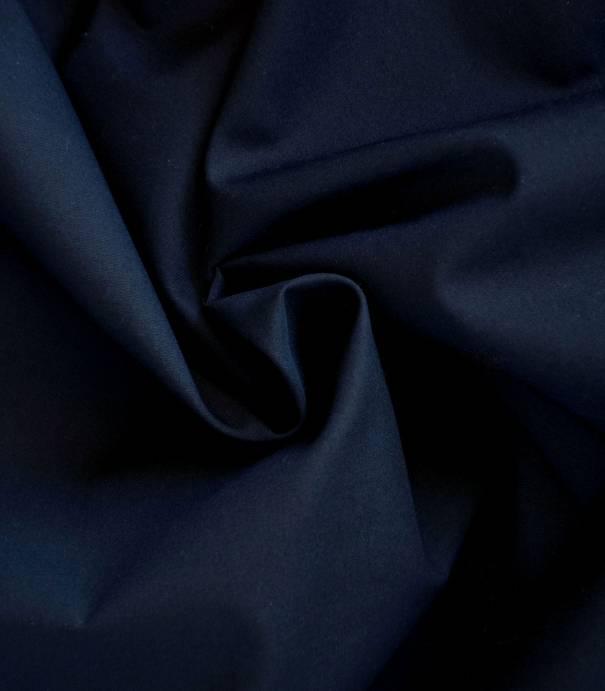 Tissu popeline de coton bleue  marine