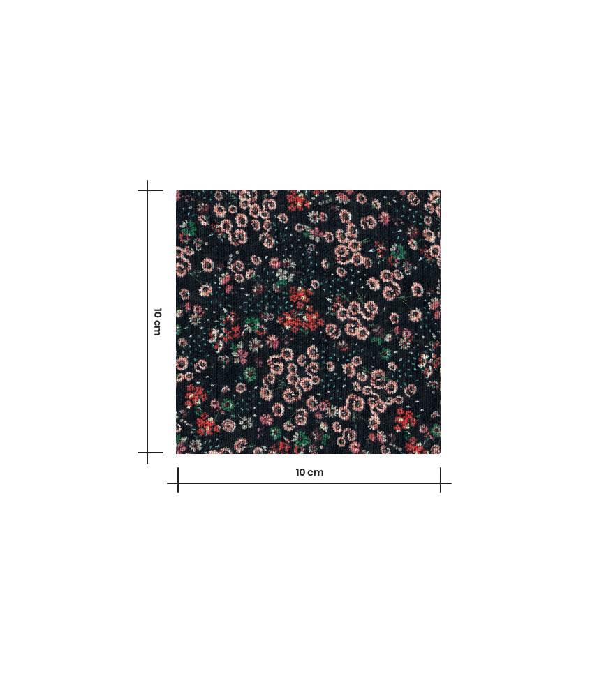 Tissu coton & viscose Fleurettes