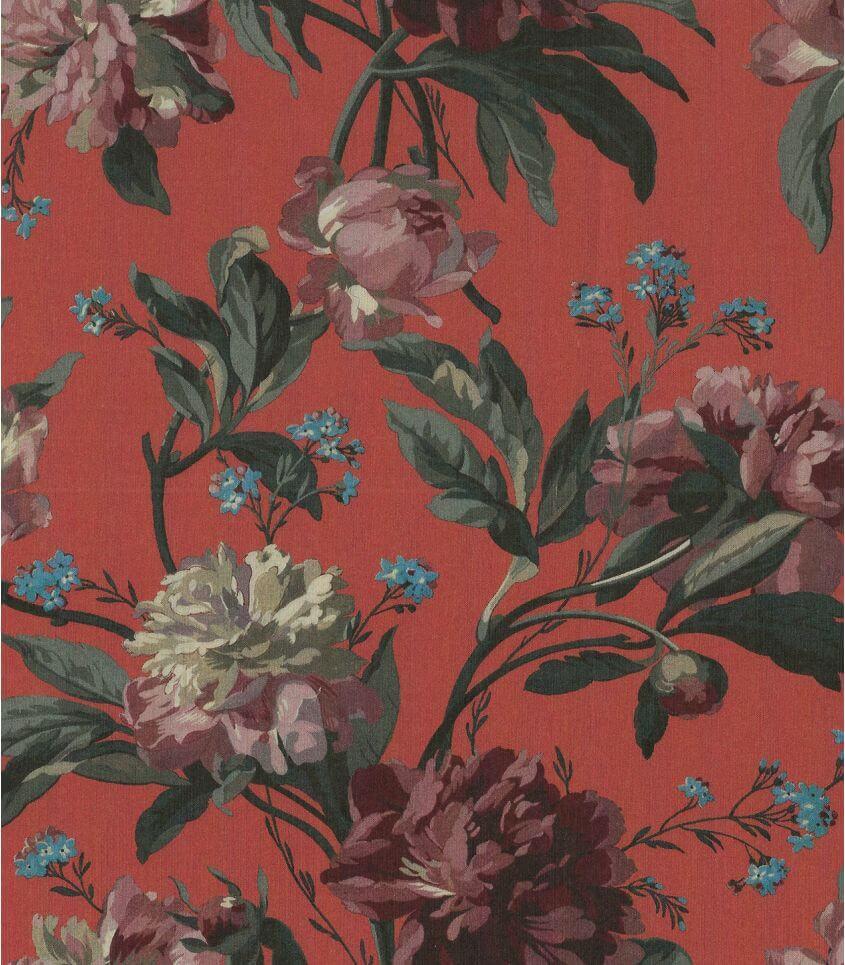 Tissu Liberty Decadent blooms - brique