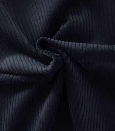 Tissu velours grosses côtes dark navy