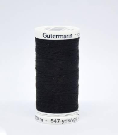 Fil à coudre Gütermann 500m -000 noir