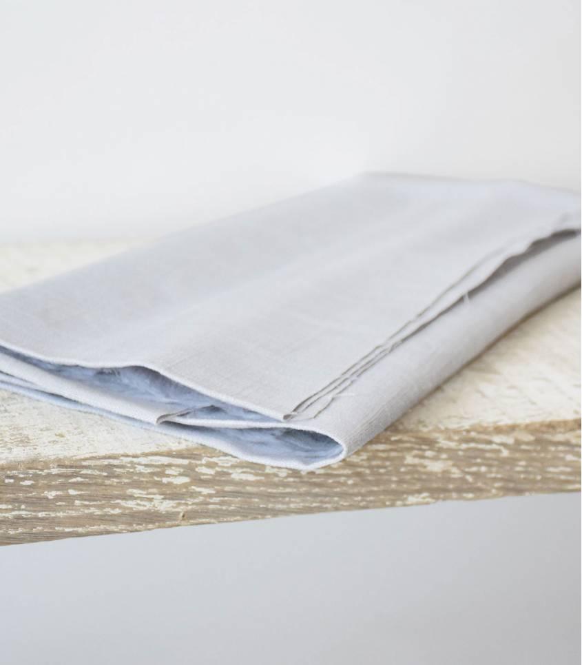 Tissu lin gris perle