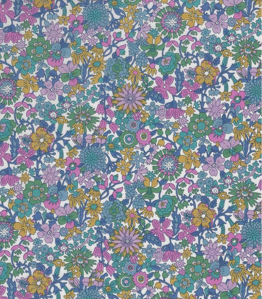 Tissu Liberty June Blossom - Bleu