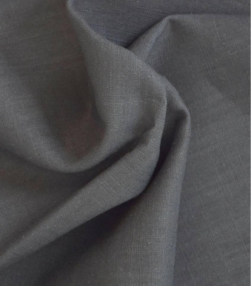 Tissu en lin gris tourterelle