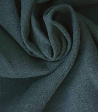 Tissu Lin lavé vert eucalyptus