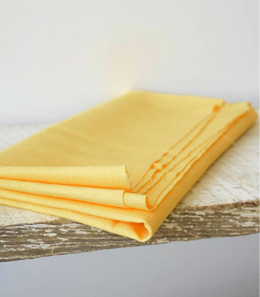 Tissu Lin jaune limoncello