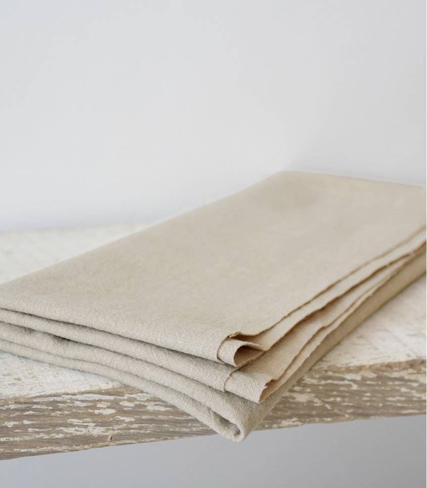 Tissu Lin lavé sable