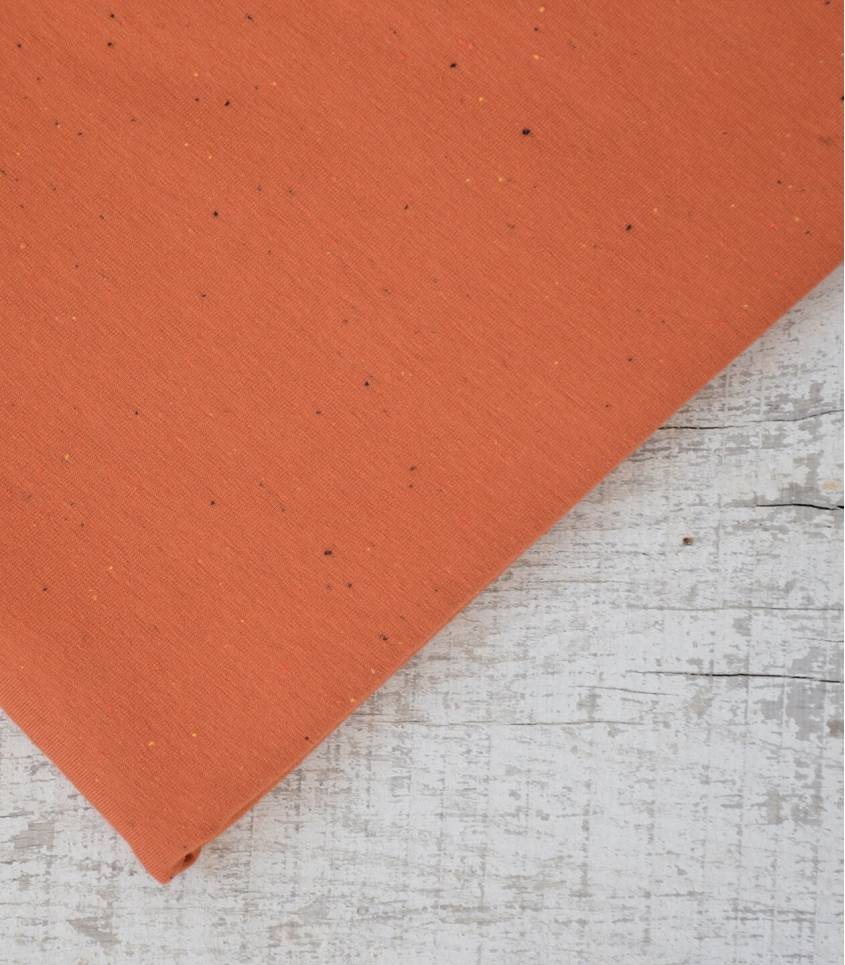 Tissu molleton chiné multico - pumpkin