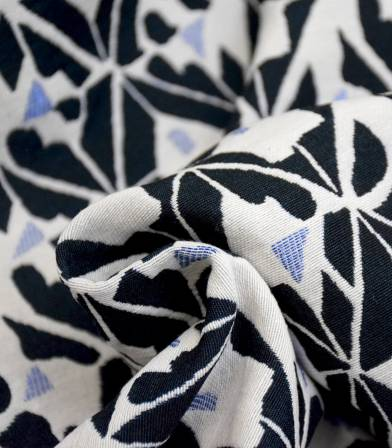 Tissu jacquard Shape - Black & White