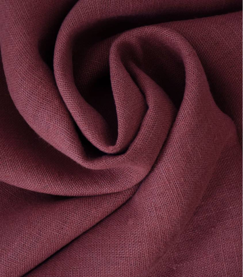 Tissu lin lavé Amarante