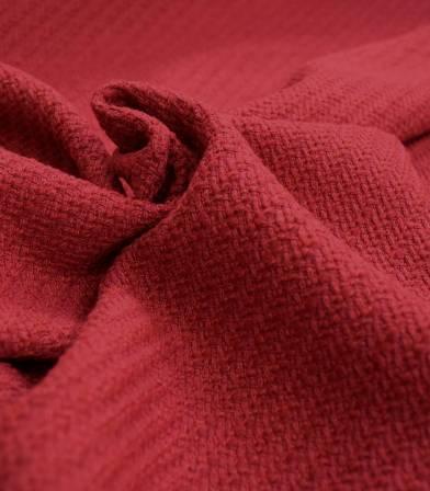 Tissu jacquard de coton unis Rouge